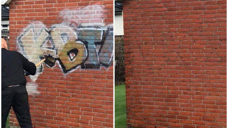 Med graffitirens får du det fjernet