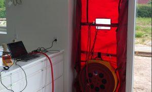Med en blowerdoor test er dit hjem sikret